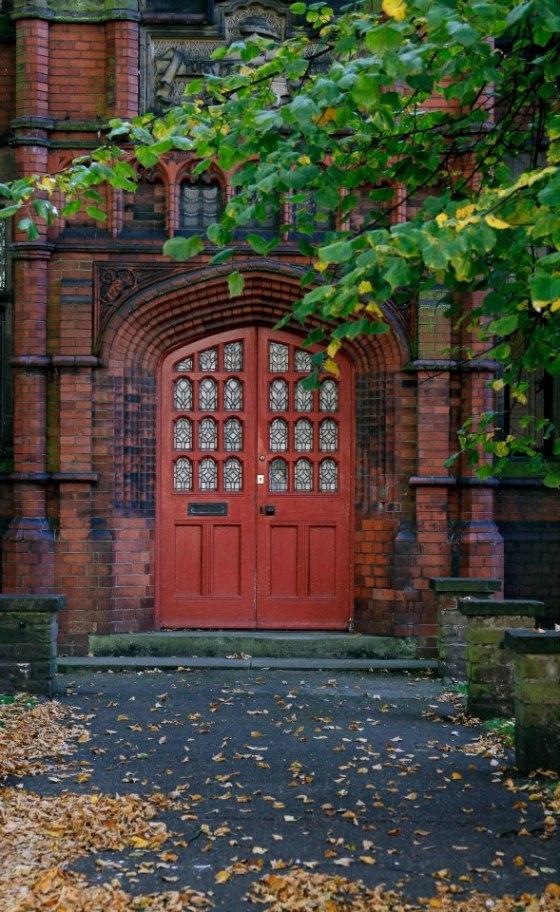 Red door, York, England