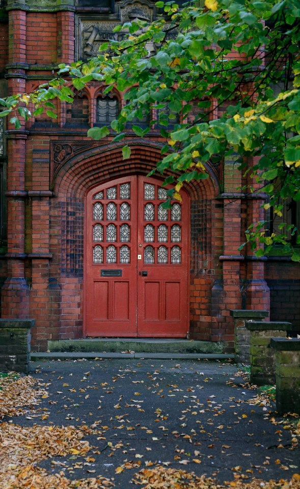 Red door, York, England