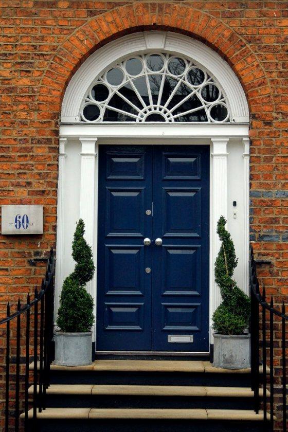 Blue door, Liverpool, England