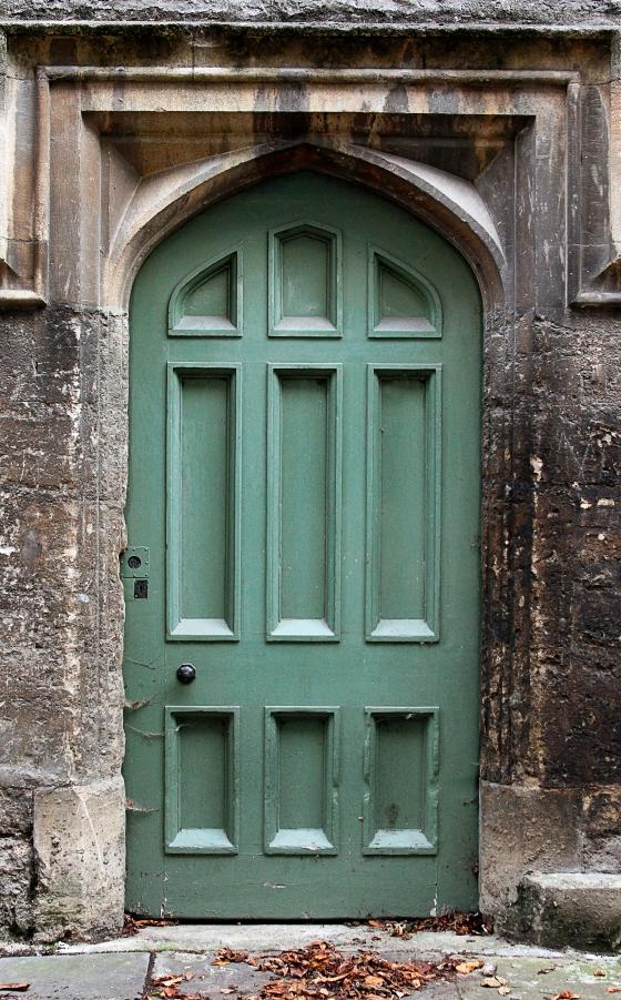 Green door, Oxford, England