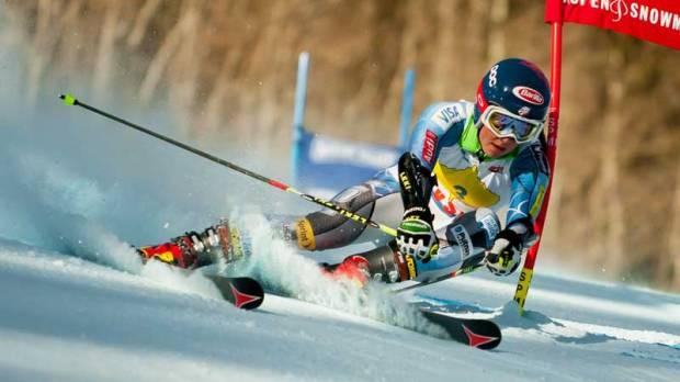 Shiffrin at the FIS NORAM Giant Slalom in Aspen, Colorado on November 29, 2012.
