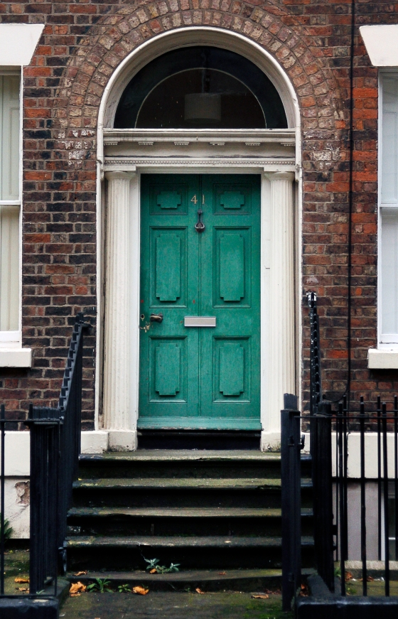 Green door, Liverpool, England