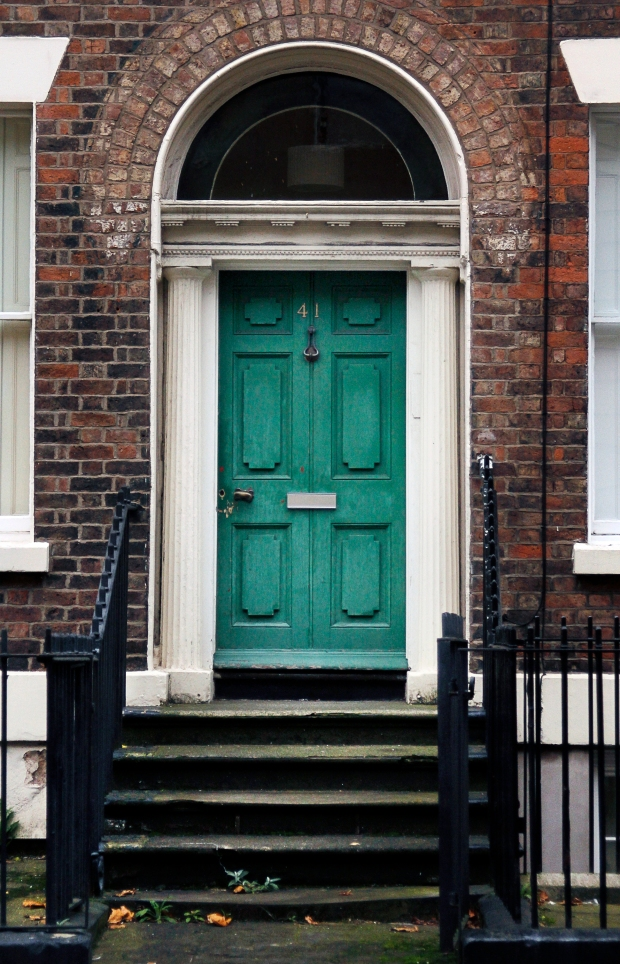 Green door, Liverpool, England