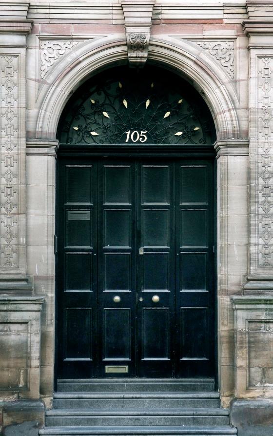 Black door, Liverpool, England