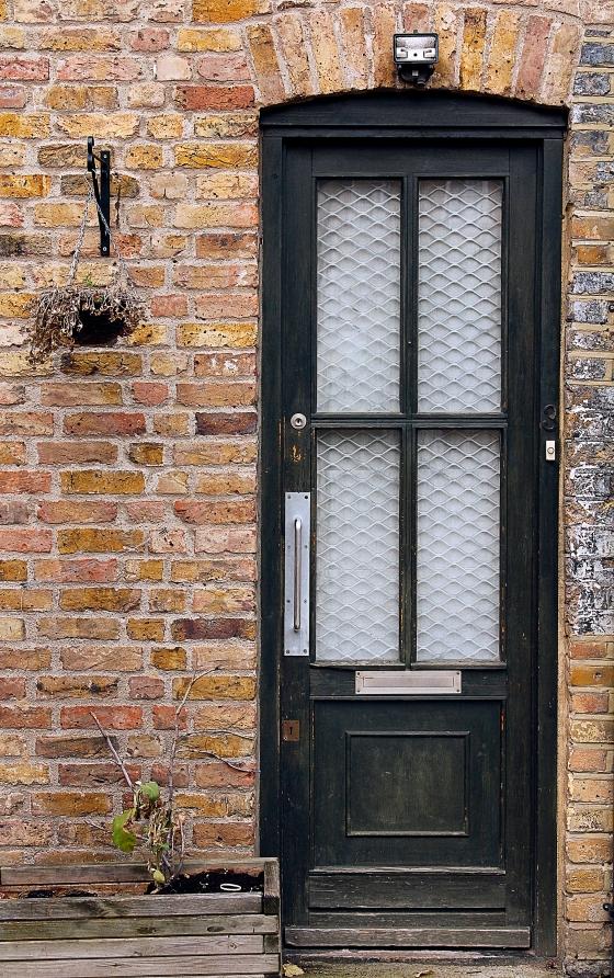 Black door, Notting Hill, London, England