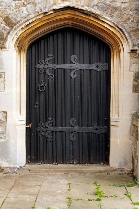 Black door, Leigh-On-Sea, England